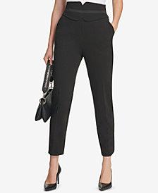 Calvin Klein High-Waist Straight-Leg Pants