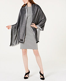 Calvin Klein Lightweight Metallic Evening Wrap