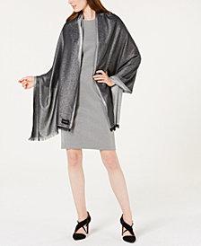 Calvin Klein Lightweight Metallic Evening Wrap