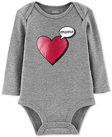 Carter's Baby Girls Mama Heart Cotton Bodysuit