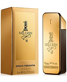 Receive a Complimentary 1 Million Mini with any large spray purchase from the Paco Rabanne 1 Million fragrance collection