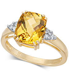 Citrine (2-3/4 ct. t.w.) & Diamond Accent Ring in 14k Gold