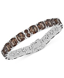 Smoky Quartz Link Bracelet (41 ct. t.w.) in Sterling Silver