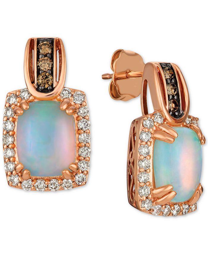 Le Vian - Opal (1-3/4 ct. t.w.) & Diamond (5/8 ct. t.w.) Drop Earrings in 14k Rose Gold