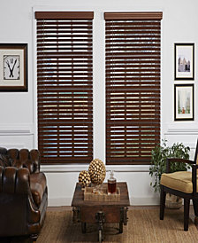 2 in. Cordless Faux Wood Venetian Blind, 31.5x64