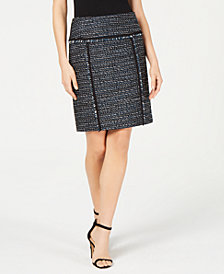 Anne Klein Tweed Pencil Skirt, Created for Macy's
