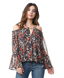 Olivia Pratt Cold Shoulder Floral Top