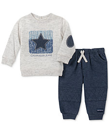 Calvin Klein Baby Boys 2-Pc. Sweatshirt & Jogger Pants Set