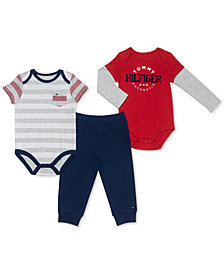 Tommy Hilfiger Baby Boys 3-Pc. Bodysuits & Pants Set