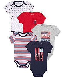 Tommy Hilfiger Baby Boys 5-Pk. Printed Bodysuits