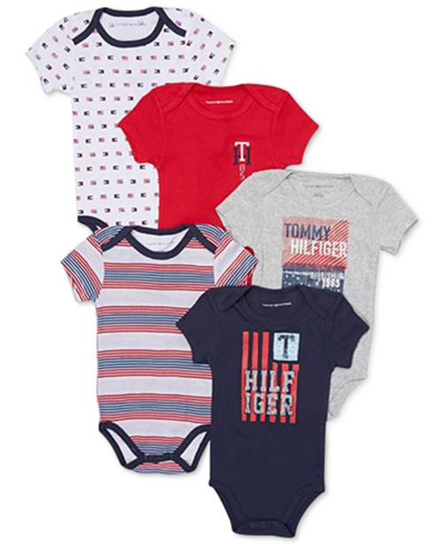 10b2a5ef9 Tommy Hilfiger Baby Boys 5-Pk. Printed Bodysuits & Reviews - All ...