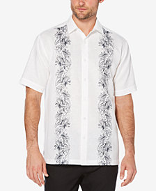 Cubavera Men's Big & Tall Tropical Panel Shirt
