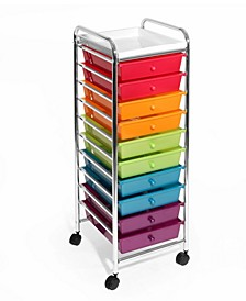 10 Drawer Organizer Cart With Tray