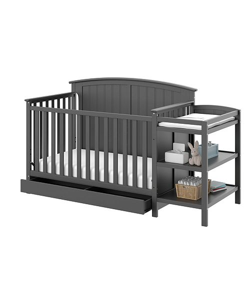 Storkcraft Steveston 4 in 1 Convertible Crib and Changer with Drawer