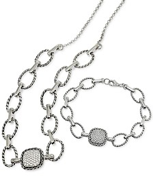 Giani Bernini Cubic Zirconi Pavé Large Link Jewelry Set, Created for Macy's
