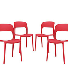 Modway Hop Dining Set Set of 4