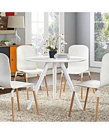 Lippa 36 Inch Round Wood Top Dining Table with Tripod Base