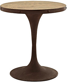 Drive 28 Inch Round Wood Top Dining Table
