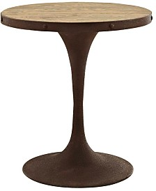 """Modway Drive 28"""" Round Wood Top Dining Table"""