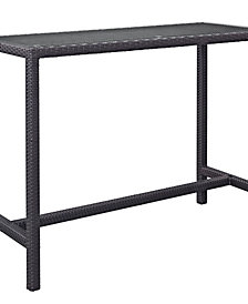 Convene Large Outdoor Patio Bar Table
