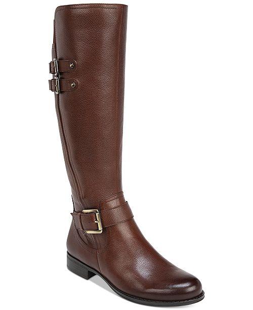 0c4cb1a381c3 Naturalizer Jessie Wide Calf Riding Boots   Reviews - Boots - Shoes ...