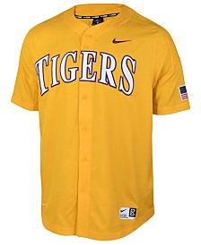 Nike Men's LSU Tigers Full-Button Vapor Elite Baseball Jersey