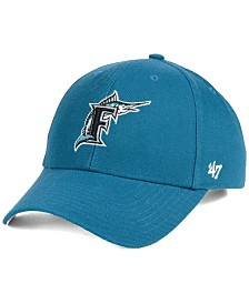 '47 Brand Miami Marlins Coop MVP Strapback Cap