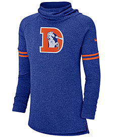 Nike Women's Denver Broncos Funnel Neck Long Sleeve T-Shirt