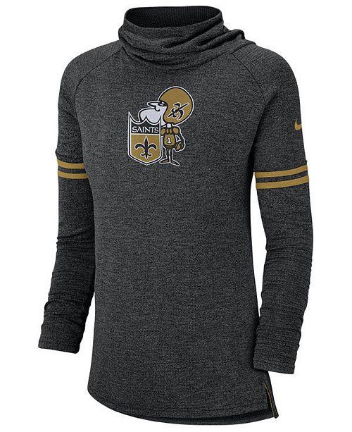 d7242a61 Nike Women's New Orleans Saints Funnel Neck Long Sleeve T-Shirt ...
