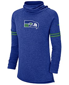 Nike Women's Seattle Seahawks Funnel Neck Long Sleeve T-Shirt