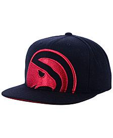 Mitchell & Ness Atlanta Hawks Metallic Cropped Snapback Cap