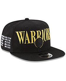New Era Golden State Warriors 90s Throwback Roadie 9FIFTY Snapback Cap