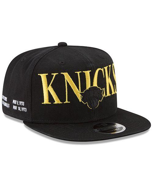 finest selection bfa69 3d0d3 ... New Era New York Knicks 90s Throwback Roadie 9FIFTY Snapback Cap ...