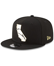 New Era Los Angeles Chargers Gold Stated 9FIFTY Snapback Cap