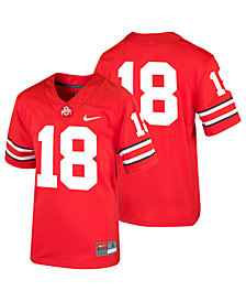Nike Ohio State Buckeyes Replica Football Game Jersey, Big Boys (8-20)