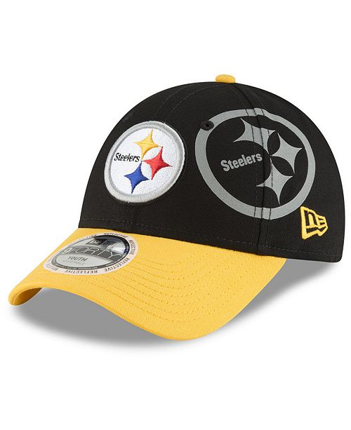 994ccd53 New Era Boys' Pittsburgh Steelers Side Flect 9FORTY Cap - Sports Fan ...