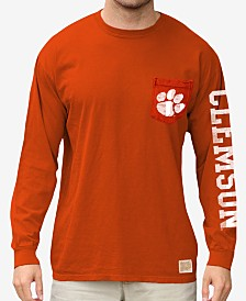 Retro Brand Men's Clemson Tigers Heavy Weight Long Sleeve Pocket T-Shirt