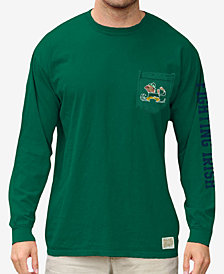 Retro Brand Men's Notre Dame Fighting Irish Heavy Weight Long Sleeve Pocket T-Shirt