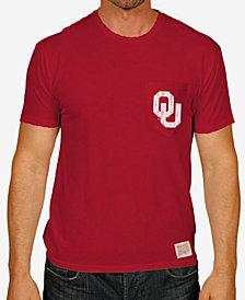 Retro Brand Men's Oklahoma Sooners Logo Pocket T-Shirt