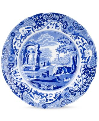 """Blue Italian"" Luncheon Plate, 9"""