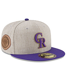 New Era Colorado Rockies Leather Ultimate Patch Collection 59FIFTY FITTED Cap