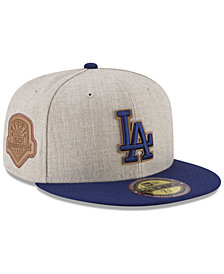 New Era Los Angeles Dodgers Leather Ultimate Patch Collection 59FIFTY FITTED Cap