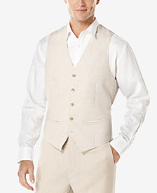 Cubavera Men's Big & Tall Linen Vest