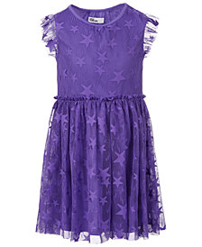 Epic Threads Little Girls Star Mesh Dress, Created for Macy's