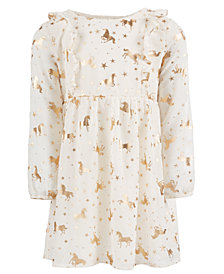 Epic Threads Toddler Girls Unicorn-Print Dress, Created for Macy's