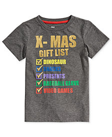 Epic Threads Toddler Boys Xmas T-Shirt, Created for Macy's
