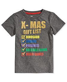 Epic Threads Little Boys X-Mas List T-Shirt, Created for Macy's