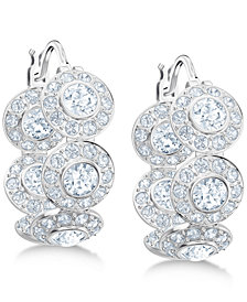"Swarovski Crystal Hoop 5/8"" Earrings"