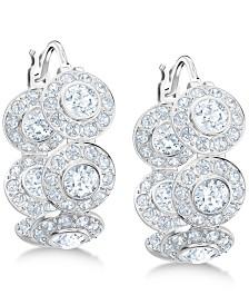 """Swarovski Crystal Hoop 5/8"""" Small Earrings"""