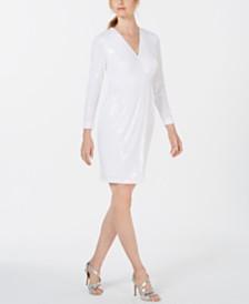 Calvin Klein Sequin A-Line Dress